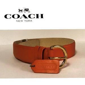 Coach (Vintage) Leather Belt, With Hang Tag